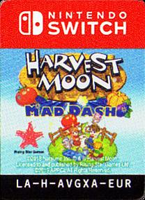 Harvest Moon - Mad Dash Switch cover (AVGXA)
