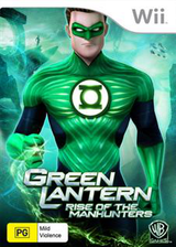 Green Lantern: Rise of the Manhunters Wii cover (R3LPWR)