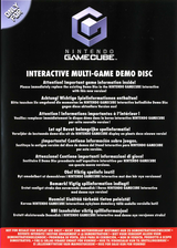 Interactive Multi-Game Demo Disc - July 2004 GameCube cover (D85P01)