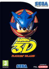 Sonic 3D: Flickies' Island VC-MD cover (MBUP)
