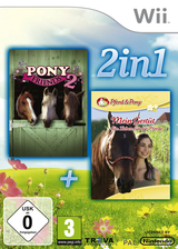 2-in-1: Pony Friends 2 + My Riding Stables: Life with Horses Wii cover (S26PML)