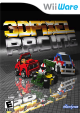 3D Pixel Racing WiiWare cover (W3FP)