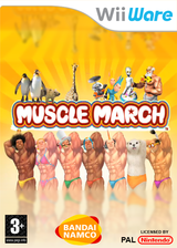 Muscle March WiiWare cover (WMMP)