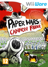 Paper Wars Cannon Fodder WiiWare cover (WWXP)
