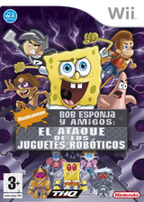 Bob Esponja: El Ataque de los Juguetes Roboticos Wii cover (RN3P78)
