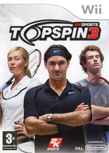 Top Spin 3 Wii cover (R3TP54)