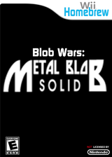 Blob Wars: Metal Blob Solid Homebrew cover (D08A)