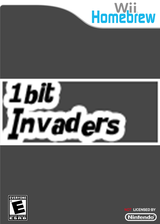 1bit Invaders Homebrew cover (D1PA)