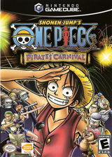 Shonen Jump's One Piece: Pirates Carnival GameCube cover (GIPEAF)