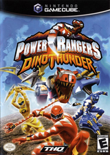 Power Rangers Dino Thunder GameCube cover (GRUE78)