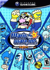 Wario Ware Inc.: Mega Party Game$! GameCube cover (GZWE01)