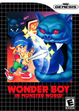 Wonder Boy in Monster World VC-MD cover (MAVE)