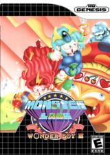 Wonder Boy III: Monster Lair VC-MD cover (MCSN)