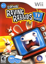 Rayman Raving Rabbids TV Party Wii cover (RY3E41)