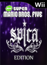 New Super Mario Bros. Wii Five Spica Edition CUSTOM cover (SANE01)