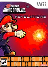 New Super Mario Bros Wii 16 Revelations CUSTOM cover (SIXE01)