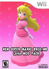 New Super Mario Bros. Wii - Lava Mod Pack CUSTOM cover (SMNE55)
