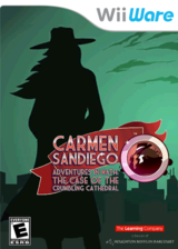 Carmen Sandiego Adventures in Math: The Case of the Crumbling Cathedral WiiWare cover (WAKE)