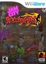Jam City Rollergirls WiiWare cover (WJAE)