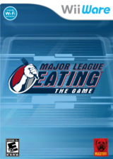 Major League Eating: The Game WiiWare cover (WMLE)