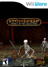 Stonekeep: Bones of the Ancestors WiiWare cover (WSHE)