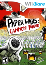 Paper Wars: Cannon Fodder WiiWare cover (WWXE)