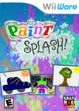 Paint Splash! WiiWare cover (WXPE)