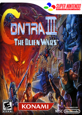 Contra III: The Alien Wars VC-SNES cover (JALE)