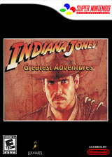 Indiana Jones' Greatest Adventures VC-SNES cover (JC4E)