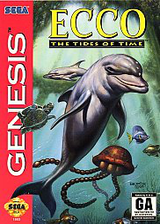 Ecco: The Tides of Time VC-MD cover (MA8E)