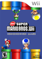 New Super Mario Bros. Wii Underground Maze CUSTOM cover (SMNE38)