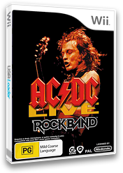 AC/DC Live: Rock Band Song Pack Wii cover (R33P69)