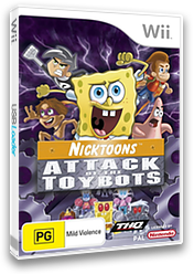 Nicktoons: Attack Of The Toybots Wii cover (RN3X78)