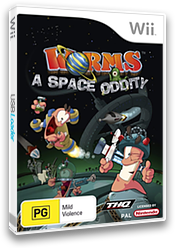 Worms: A Space Oddity Wii cover (RWMP78)