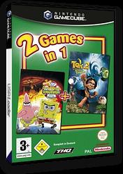 2 Games in 1: Nickelodeon SpongeBob Schwammkopf: Der Film + Nickelodeon Tak 2: Der Stab der Träume GameCube cover (GU3D78)