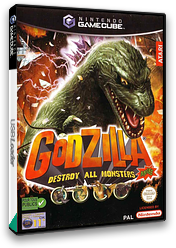 Godzilla:Destroy all Monsters Melee GameCube cover (GZDP70)