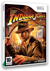 Indiana Jones and the Staff of Kings Wii cover (RJ8P64)