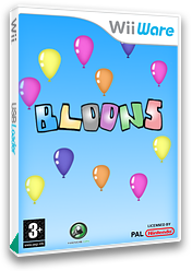 Bloons WiiWare cover (W2LP)