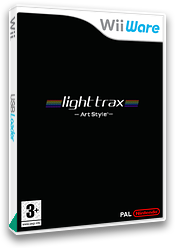 Art Style: light trax WiiWare cover (WALP)