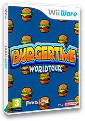 BurgerTime World Tour WiiWare cover (WWTP)