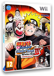 Naruto Shippuden: Clash of Ninja Revolution 3 Wii cover (RNEPDA)