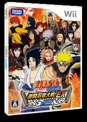 NARUTO -ナルト- 疾風伝 激闘忍者大戦!EX2 Wii cover (RNYJDA)