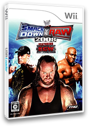 WWE 2008 SmackDown vs. Raw Wii cover (RWWJ78)