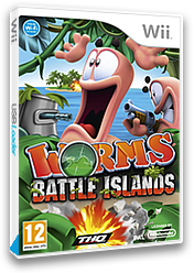 Worms Battle Islands Wii cover (SILP78)