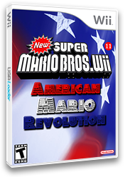 New Super Mario Bros. Wii 11 American Revolution CUSTOM cover (AMEE01)
