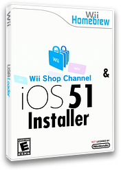 Wii Shop and IOS51 Installer Homebrew cover (D15A)