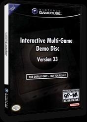 Interactive Multi-Game Demo Disc - Version 33 GameCube cover (D58E01)