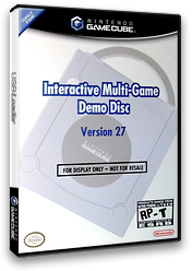Interactive Multi-Game Demo Disc - Version 27 GameCube cover (D66E01)