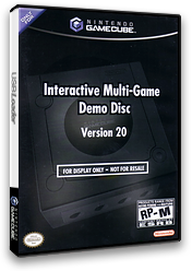 Interactive Multi-Game Demo Disc - Version 20 GameCube cover (D75E01)