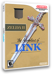 Zelda II: The Adventure of Link VC-NES cover (FA9E)